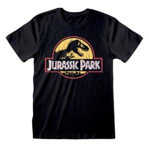 Camiseta Jurassic Park - Original Logo Distressed - Unisex - Talla Adulto