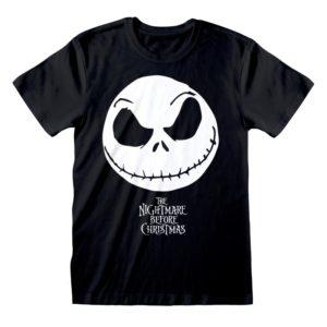Camiseta Nightmare Before Christmas - Jack Face & Logo - Unisex - Talla Adulto