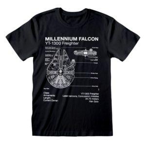 Camiseta Star Wars: Halcón milenario